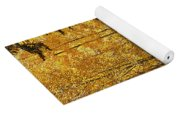 A Golden Trail Yoga Mat