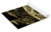 A Gothic Guise Of Gold Yoga Mat