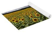 A Sunny Sunflower Day Yoga Mat