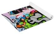 Abstract Colorful Graffiti Yoga Mat