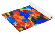 Acrylic Abstract Upon Wood Yoga Mat