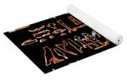 Ancient Egyptian Hieroglyphs Yoga Mat
