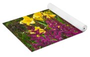 Astilbe And Lilies Yoga Mat