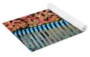Autumn Blue Bench Yoga Mat