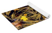 Autumn Leaves On Straw On Water Yoga Mat