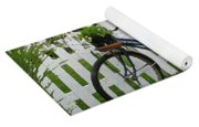 Bicycle And Picket Fence Yoga Mat