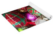 Box Of Christmas Ornaments With Star Yoga Mat