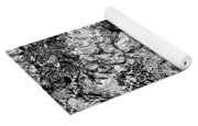 Butterfly Bark Black And White Yoga Mat