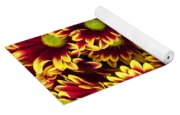 Butterfly On Yellow Red Daises  Yoga Mat