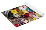 Buttons And Dice Yoga Mat