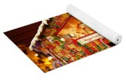 Candy Gingerbread House Yoga Mat