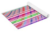 Candy Stripe Yoga Mat