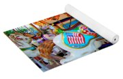 Carousel Horse With Flags Yoga Mat