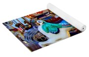 Carousel Horse With Leaves Yoga Mat