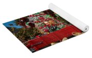 Christmas Snowman On Rails Yoga Mat