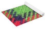 Closeup Of Multi-colored Fabric Yoga Mat