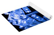 Cold Blue Led Lights Closeup Yoga Mat
