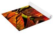 Colorful Blackberry Leaves 1 Yoga Mat
