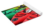Colorful Canoes Yoga Mat