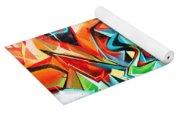 Colorful Graffiti Fragment Yoga Mat