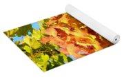 Colorful Leaf Cluster Yoga Mat