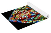 Colorful Stained Glass Chapel Window Yoga Mat