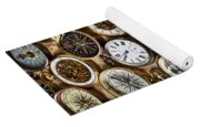 Compases And Pocket Watches  Yoga Mat