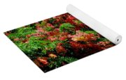 Coral Shower Trees Yoga Mat