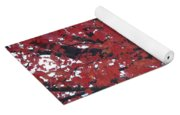 Crimson Leaves Yoga Mat