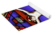 Cross Stained Glass Yoga Mat