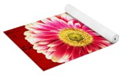 Daisy In Black Vase Yoga Mat