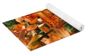 Double Tiger Lily Named Flora Pleno Yoga Mat
