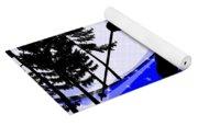 Downhill On The Ski Slope  Yoga Mat