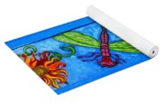 Dragonfly And Bee Yoga Mat