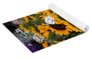 European Markets - Sunflowers And Roses Yoga Mat