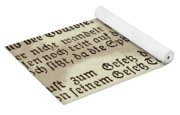Faded Old German Bible Page Yoga Mat