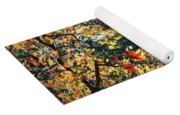 Fall Leaves Over Florida Pond Yoga Mat