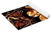 Fire Flower Yoga Mat