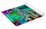 Fire Storm Abstract Yoga Mat