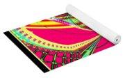 Fluorescent Butterfly Fractal 68 Yoga Mat