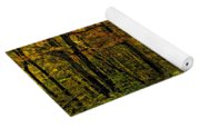 Follow The Yellow Leafed Road Painted Yoga Mat