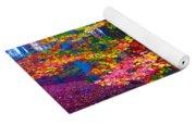 Forest Color Leaves Yoga Mat
