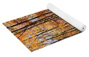 Forest Of Gold Yoga Mat