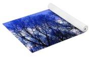 Frosty Trees Yoga Mat