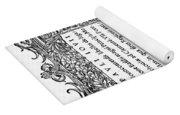 Giovio: Title Page, 1525 Yoga Mat