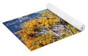 Gold Leaves Yoga Mat