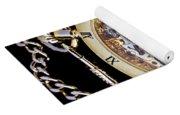 Gold Pocket Watch Yoga Mat