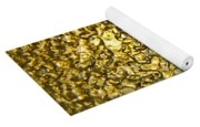 Golden Ice Crystals Yoga Mat