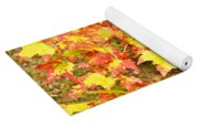 Golden Maple Leaves Yoga Mat