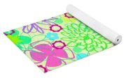 Graphic Flowers Yoga Mat